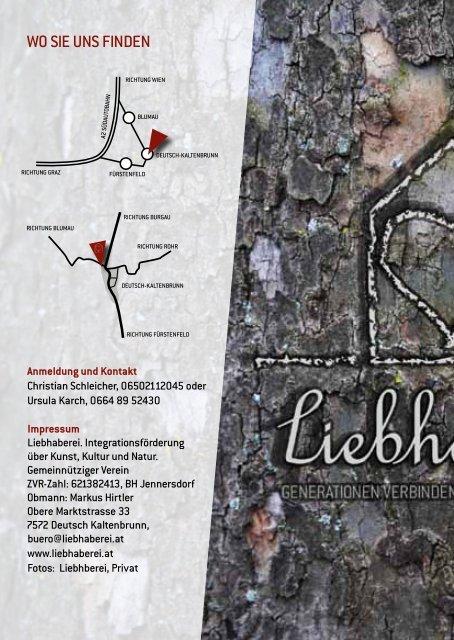 Jahresprogramm 2013 - Liebhaberei