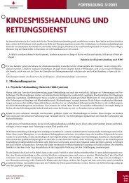 KINDESMISSHANDLUNG UND RETTUNGSDIENST - Opferoffensive