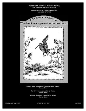 A Landowner's Guide to Woodcock Management in the
