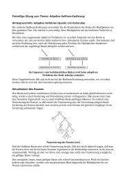Adaptive Huffman Codierung
