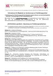 Elektronische Erfassung und Verteilung von Fortbildungspunkten - EIV