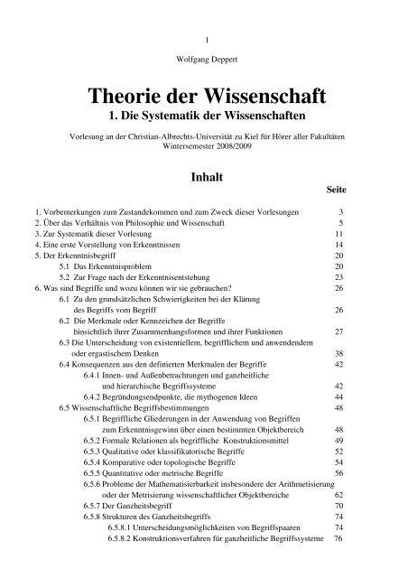 Theorie der Wissenschaft Teil 1 - Sokrates-Universitäts-Verein eV