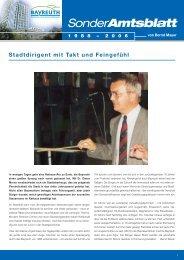 Sonderamtsblatt - Stadt Bayreuth