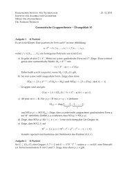 Geometrische Gruppentheorie – Übungsblatt 10 n → k, (x1,..., xn ...