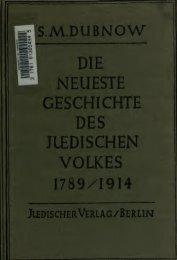 Die neueste Geschichte des jüdischen Volkes. [1789-1914]