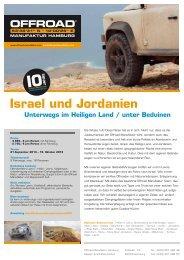 Israel und Jordanien - Offroad Manufaktur Hamburg