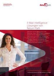 Übersicht E-Mail Intelligence Lösungen von Return Path