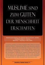 MUSLIME SIND zUM GUTEN - Verlag der Islam