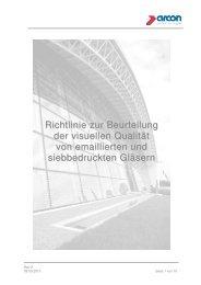 Richtlinie zur Beurteilung der visuellen Qualität von ... - arcon Glas