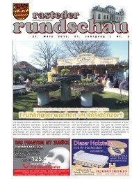 rasteder rundschau, Ausgabe März 2013