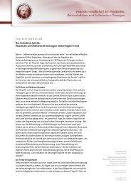 Plastische und Ästhetische Chirurgen hinterfragen Trend - DGPRÄC