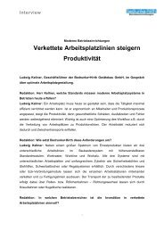 Pressebericht Arbeitsplatzsysteme.pdf - Bedrunka & Hirth Gerätebau ...