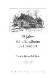 Hoisdorf Jubiläums-Festschrift 75 Jahre 1922-1997 - Hahn's home ...