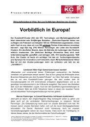 Vorbildlich in Europa! - TMG