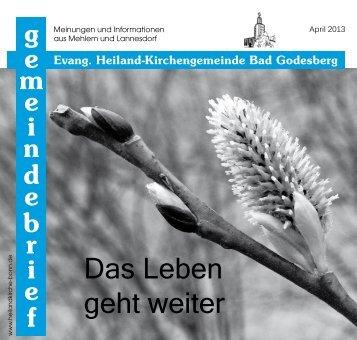 Das Leben geht weiter - Evangelische Heiland-Kirchengemeinde ...