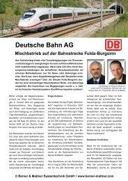 Beitrag 'Deutsche Bahn AG' (pdf) - Berner & Mattner