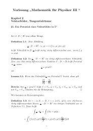 """Vorlesung """" Mathematik für Physiker III """""""