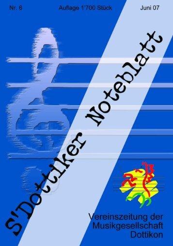 s'Dottiker Noteblatt Nr. 7 (PDF) - Musikgesellschaft Dottikon