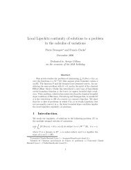 Local Lipschitz continuity of solutions to a problem ... - Pierre Bousquet