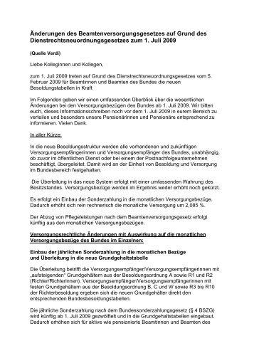 Beamtenversorgungsgesetzes - SBR-Telekom-Neustadt