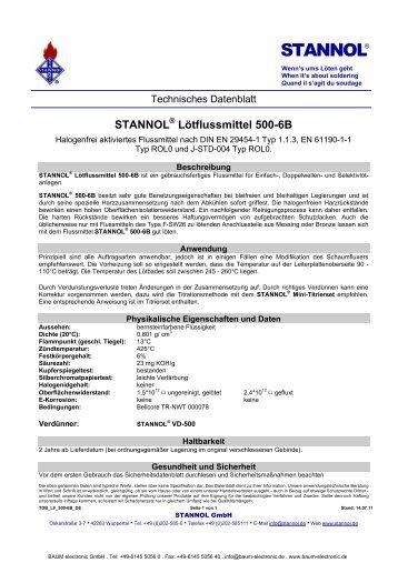 STANNOL® Lötflussmittel 500-6B - Baum Electronic