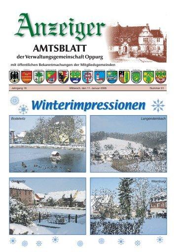 Winterimpressionen - Verwaltungsgemeinschaft Oppurg