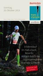Erlebnislauf im Naturpark Beverin mitten durch die ... - Transviamala
