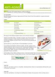 Dorade auf Tomaten-Risotto und Rucola-Sauce - Anti-Aging News
