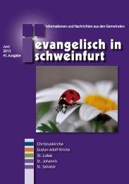 Juni 2013 - Citykirche Schweinfurt