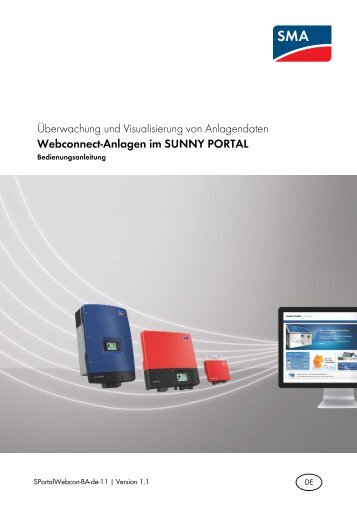 Webconnect‑Anlagen im SUNNY PORTAL - SMA Solar Technology ...