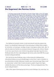 Die Gegenwart des Reiches Gottes - Vorträge von Reinhart Gruhn