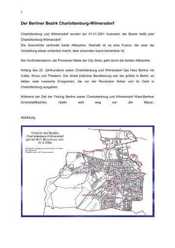 Der Berliner Bezirk Charlottenburg-Wilmersdorf