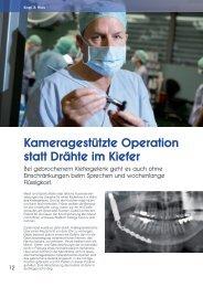 Interview mit Professor Dr. Dr. Rainer Schmelzeisen