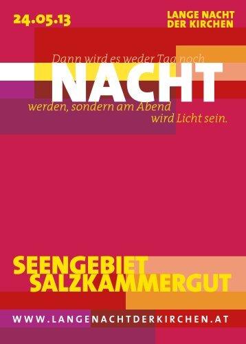 Region Salzkammergut - Lange Nacht der Kirchen