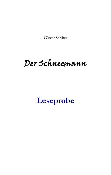 Schau mal rein - von Günter Schäfer