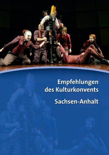 Empfehlungen des Kulturkonvents Sachsen-Anhalt