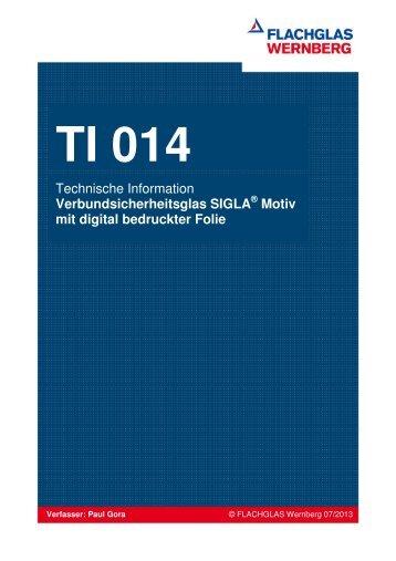 Technische Information SIGLA® Motiv mit digital bedruckter Folie