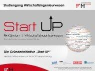 """Kick-Off Veranstaltung der Gründerinitiative """"Start UP"""""""