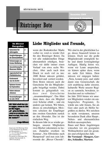 Rüstringer Bote, Ausgabe Dezember 2009 (Download PDF-Datei)