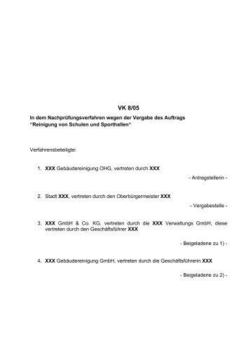 VK 8/05 - Oeffentliche Auftraege