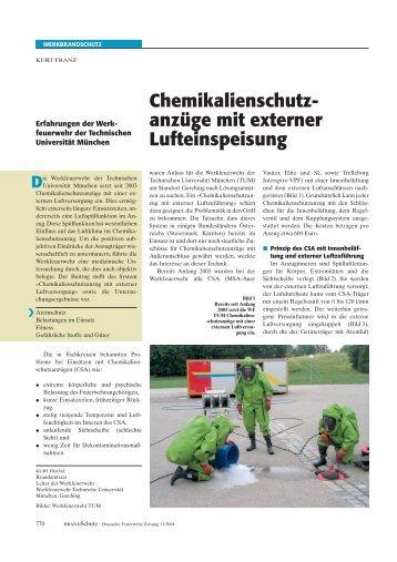 Bericht Brandschutz - Feuerwehr TU München - Technische ...