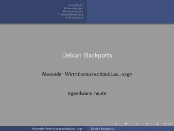 Debian Backports - debian.org Developers LDAP Search