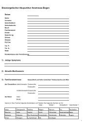 Bioenergetischer Akupunktur Anamnese-Bogen