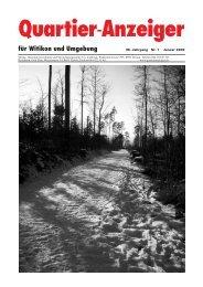 Ausgabe 1, Januar 2009 - Quartier-Anzeiger Archiv - Quartier ...