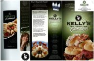 Kelly's Roast Beef Catering menu