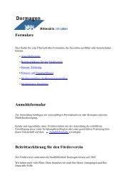 Formulare Anmeldeformular Beitrittserklärung für ... - Stadt Dormagen