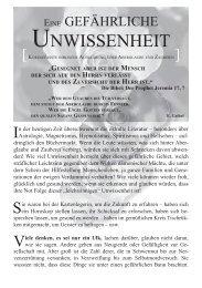 UNWISSENHEIT - Lehret alle Völker, LAV