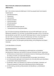 Neues Gesetz für medizinische Assistenzberufe (MAB-Gesetz)