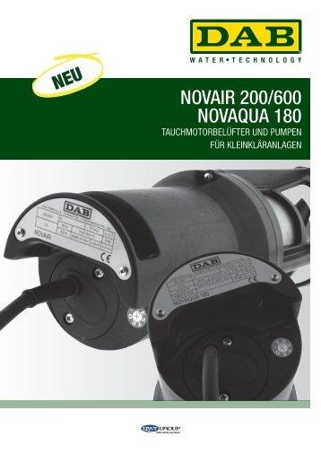 Technisches Datenblatt Novair & Novaqua - DAB Pumpen