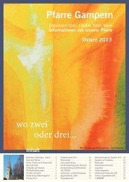 Pfarrblatt Ostern 2013 - Pfarre Gampern - Diözese Linz